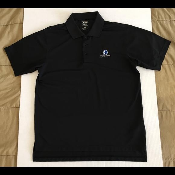 3d44f2cb8 adidas Shirts | Golf Channel Climalite Black Polo Sz Medium | Poshmark